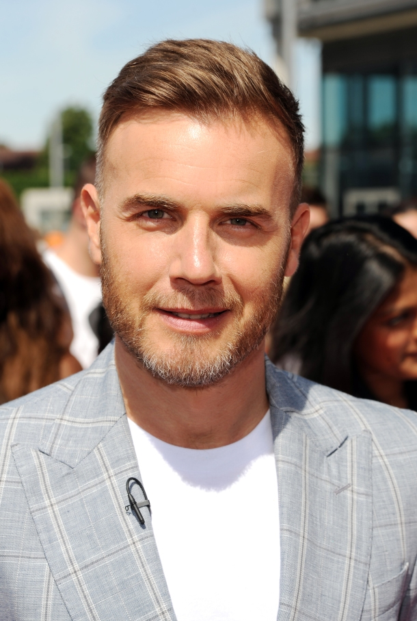 LONDON, UNITED KINGDOM - JULY 15: Gary Barlow arrives for the London auditions of The X Factor at Wembley Arena on July 15, 2013 in London, England. (Photo by Eamonn McCormack/WireImage)