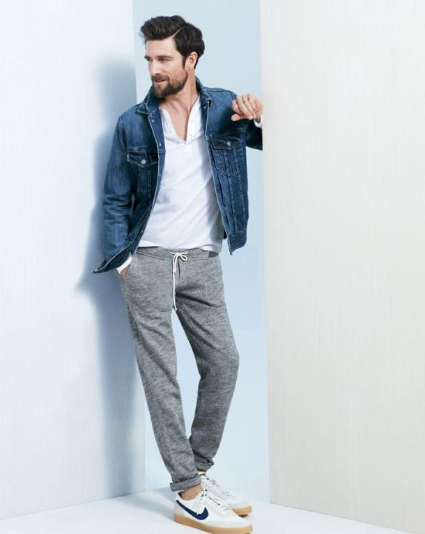 blue-denim-jacket-white-v-neck-t-shirt-grey-sweatpants-white-low-top-sneakers-original-1149
