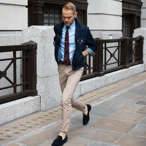 denim-jacket-tie-slippers